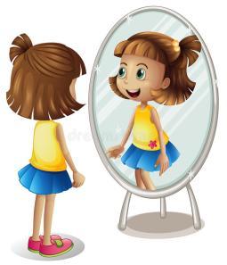 little-girl-looking-herself-mirror-illustration-84571856