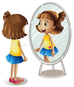 little-girl-looking-herself-mirror-illustration-84571856